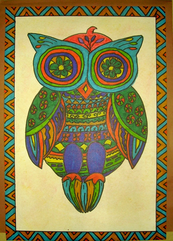 Mexican Folk Art Owl  Kids & Glitter