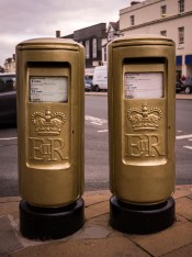 E2R pillar box pair, 1980s, Warks. John Ward
