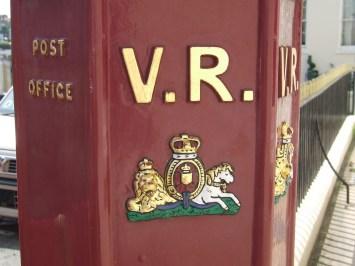 VR pillar box, 1850s, Guernsey. Peter Legg