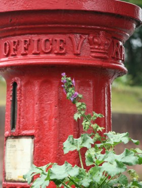 VR pillar box, 1850s, Dorset. Robert Cole