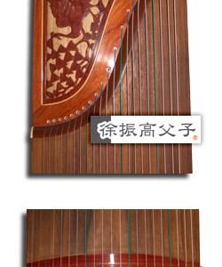 紅木雕樓古箏(款十)$18000