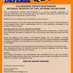 Civilian disaster response team looking for volunteers