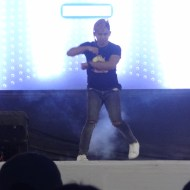 : DJ M dancing during the second part of his performance