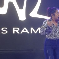 """Miss Ramonne with her band during her performance of """"WSK"""", a self-penned track about a painful heartbreak."""