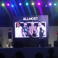 """The foursome ALLMO$T performing their opening number """"Dulo"""""""