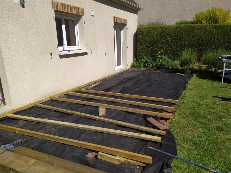 Début lambourdage-terrasse-apres-geotextile