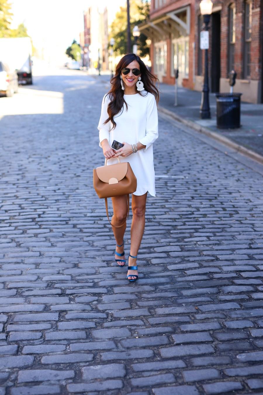White Scallop Dress
