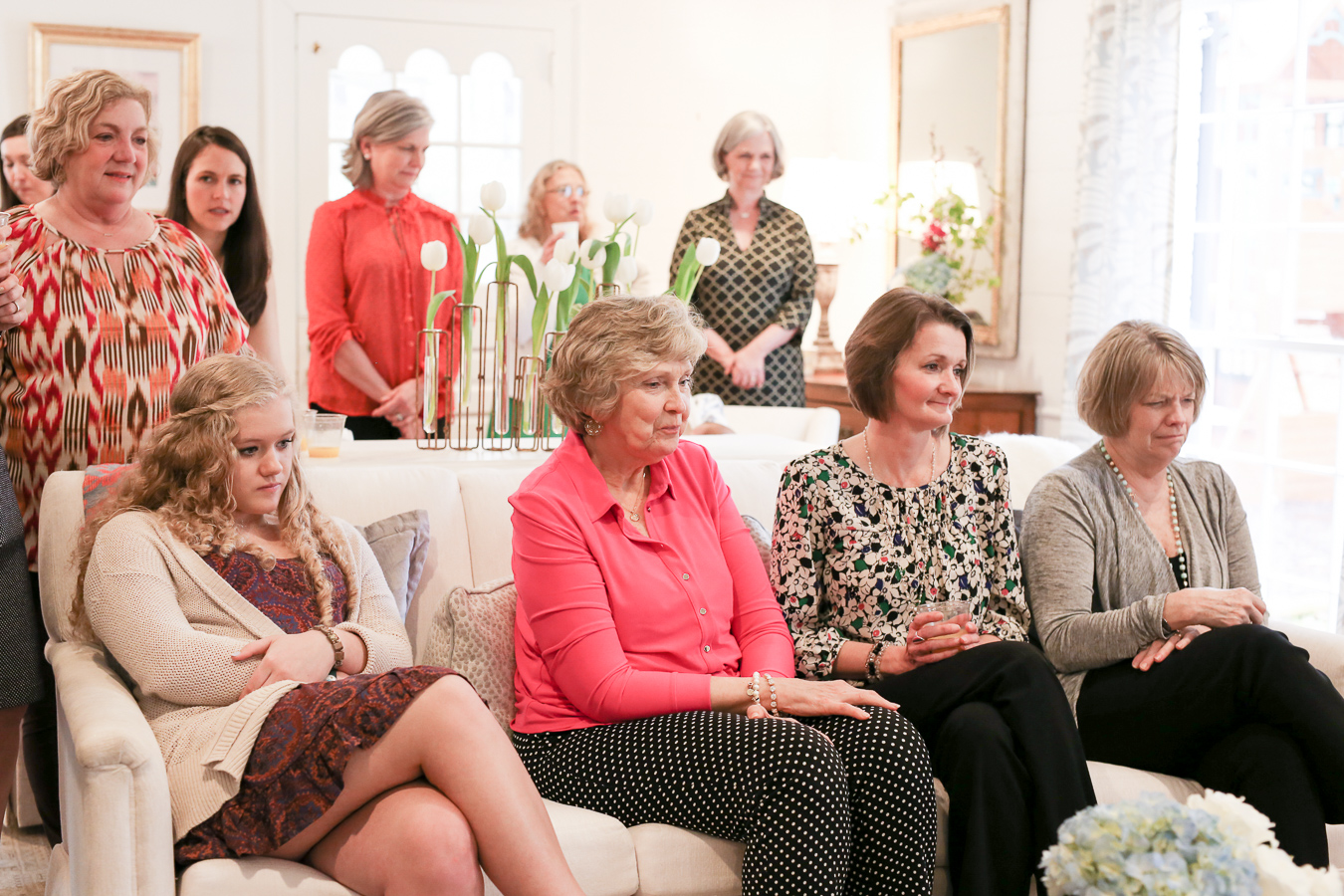 Guests Watching Gift Opening At Babyshower