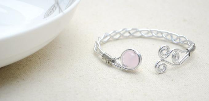 How to Make Personalized Bangle Bracelet - DIY Braided Wire Bracelets
