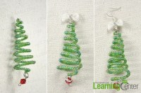 How to Make Wire Christmas Tree Earrings with Seed Beads ...