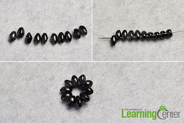 Tutorial on Making Easy 2-Hole Seed Bead Dangle Earrings