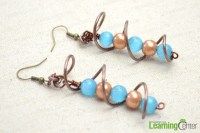 How to Make Earrings with Wire and Beads  Easy Wire Wrap ...