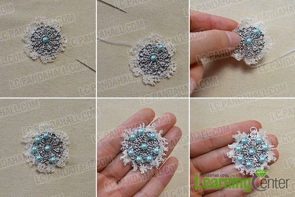 How to Make a Metal Lace Pearl Necklace-A Good Choice for Beginner