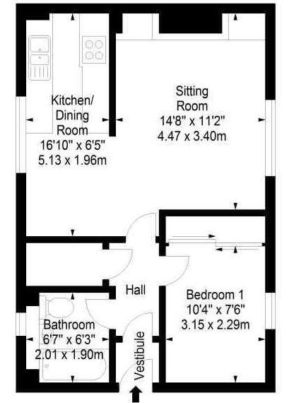 Stuart Park, East Craigs, Edinburgh EH12, 1 bedroom flat