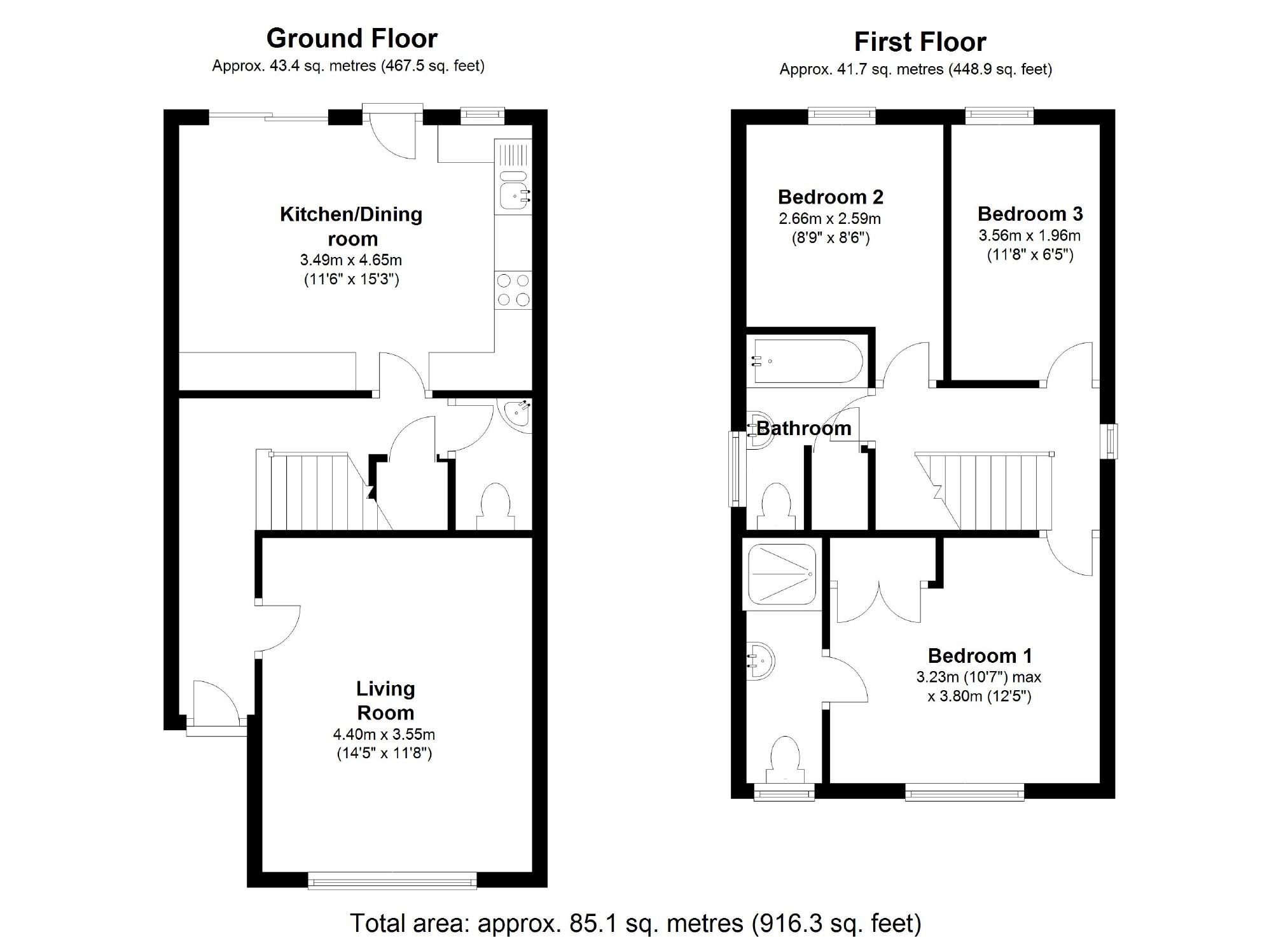 The Fields, Stratton St. Margaret, Swindon SN3, 3 bedroom