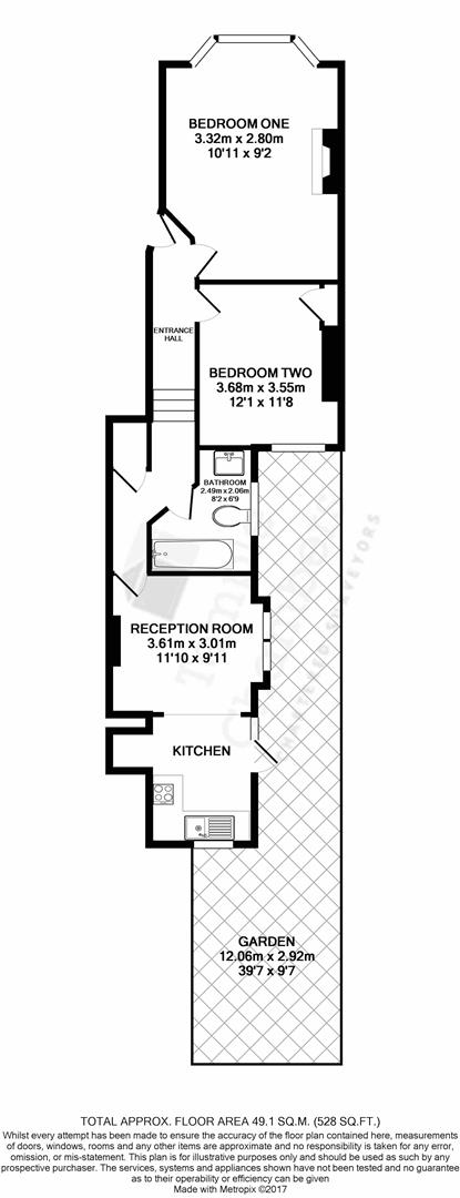 Napier Road, London N17, 2 bedroom flat for sale