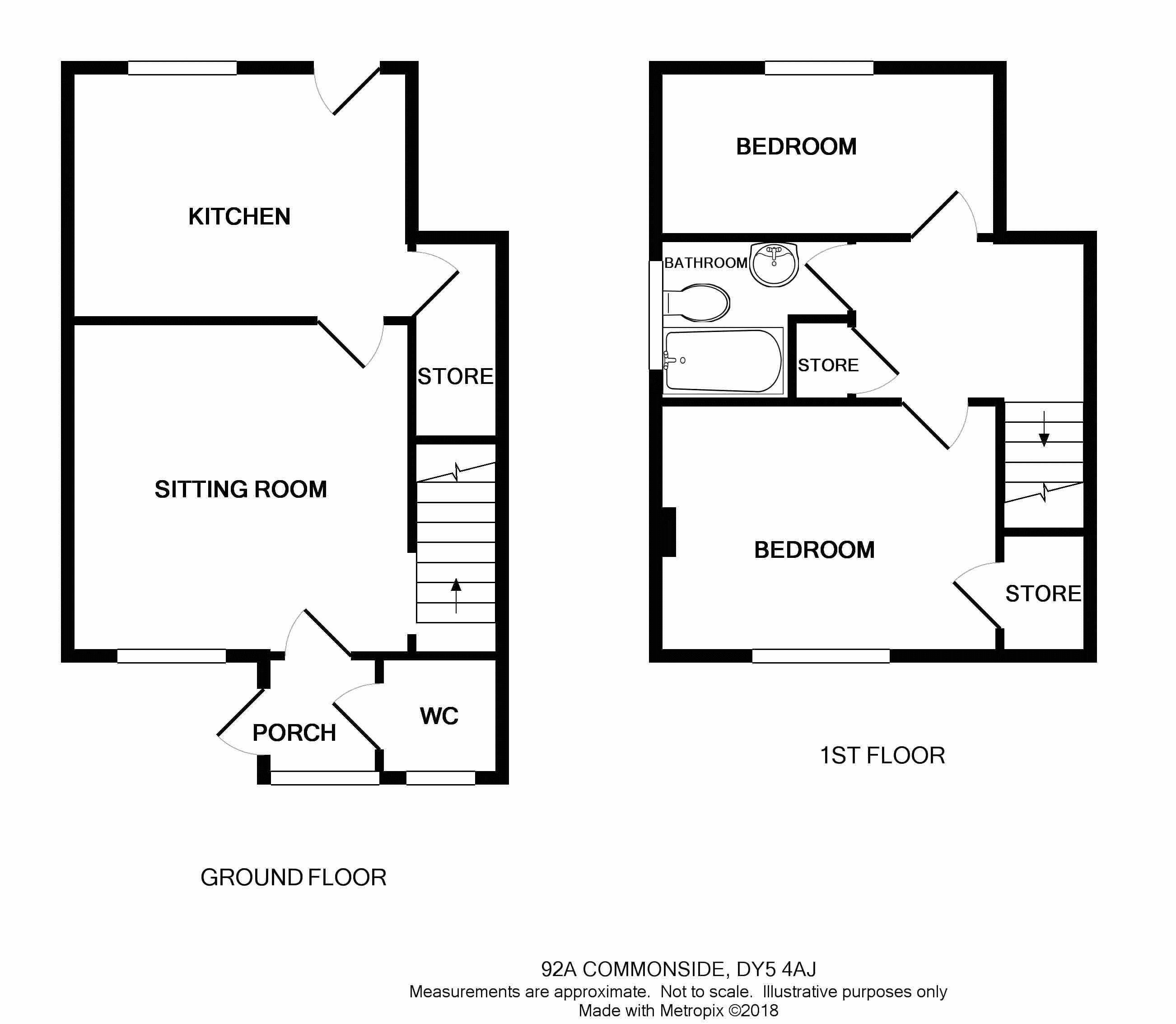 Brierley Hill, Pensnett, Commonside DY5, 2 bedroom semi