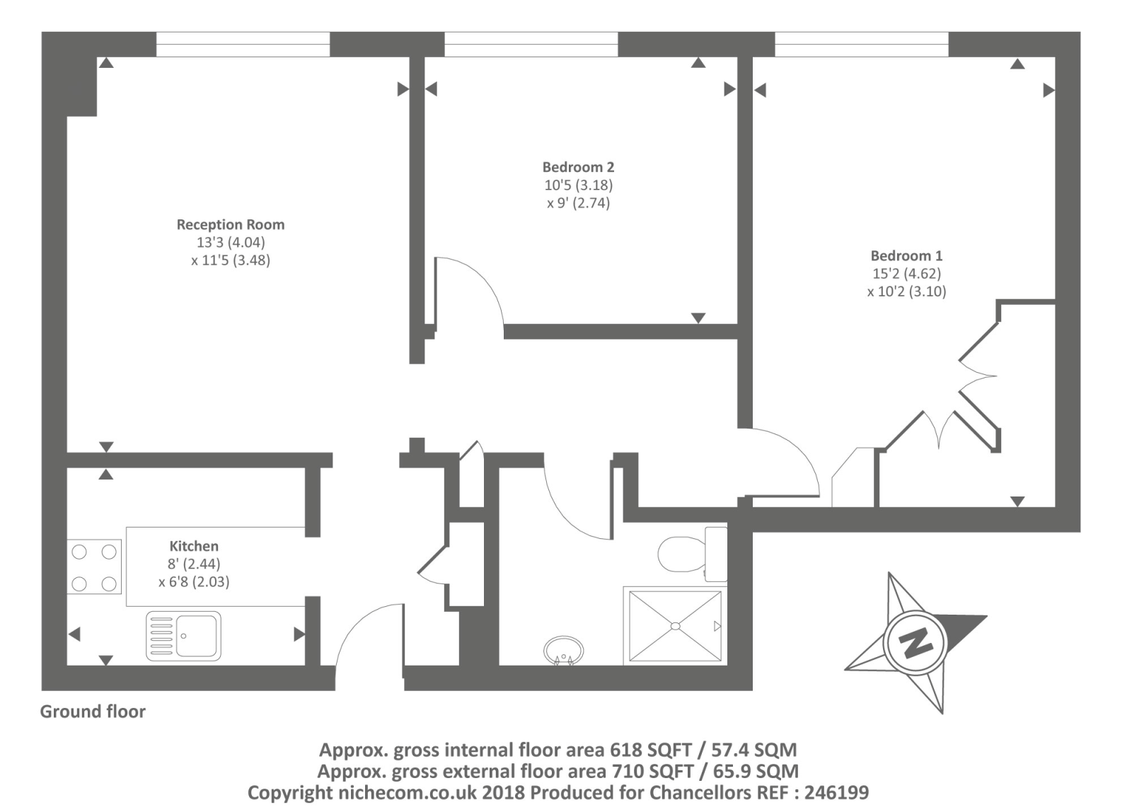 Sheringham, St John's Wood NW8,, 2 bedroom flat for sale