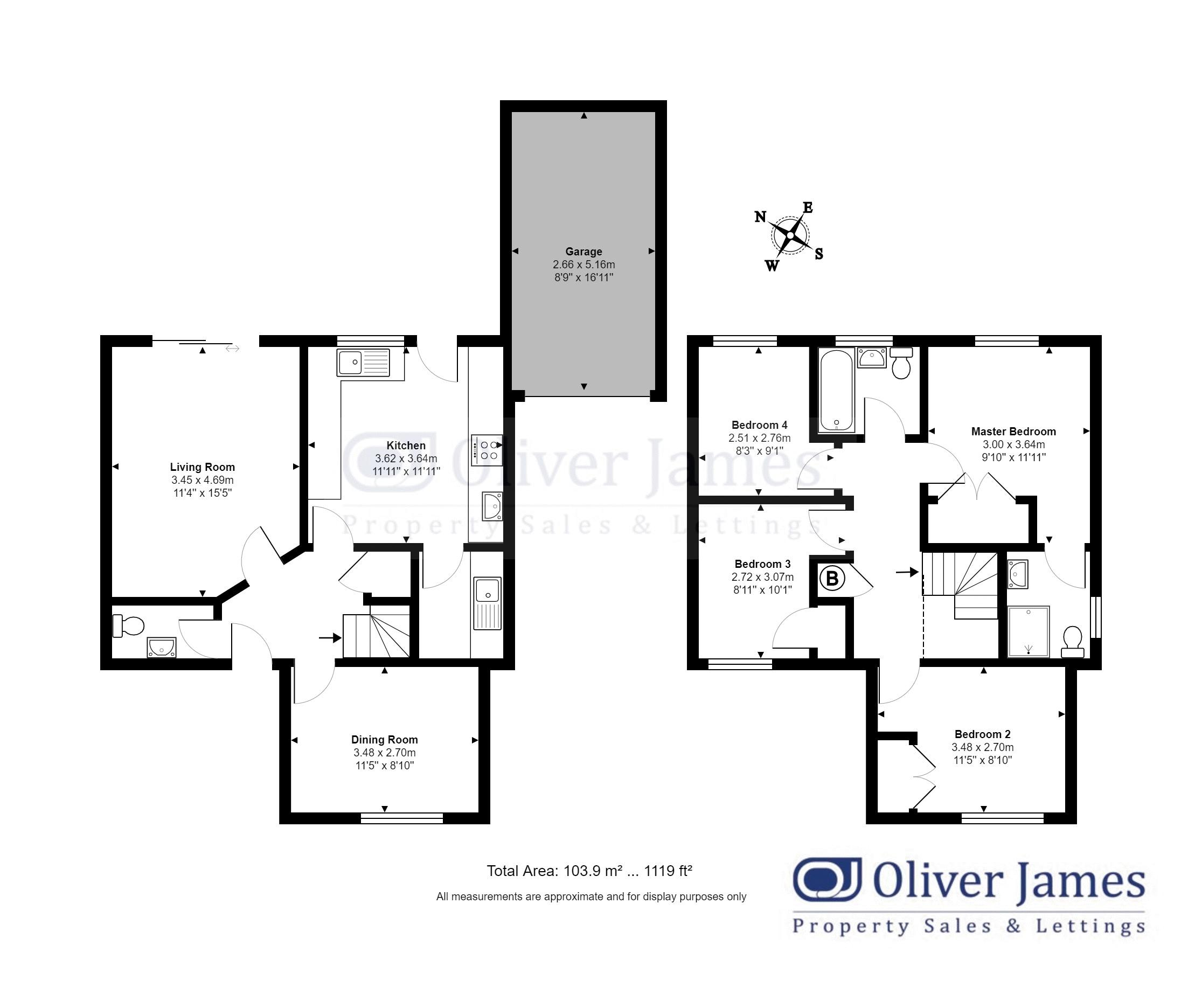 4 bed detached house for sale in Martin Close