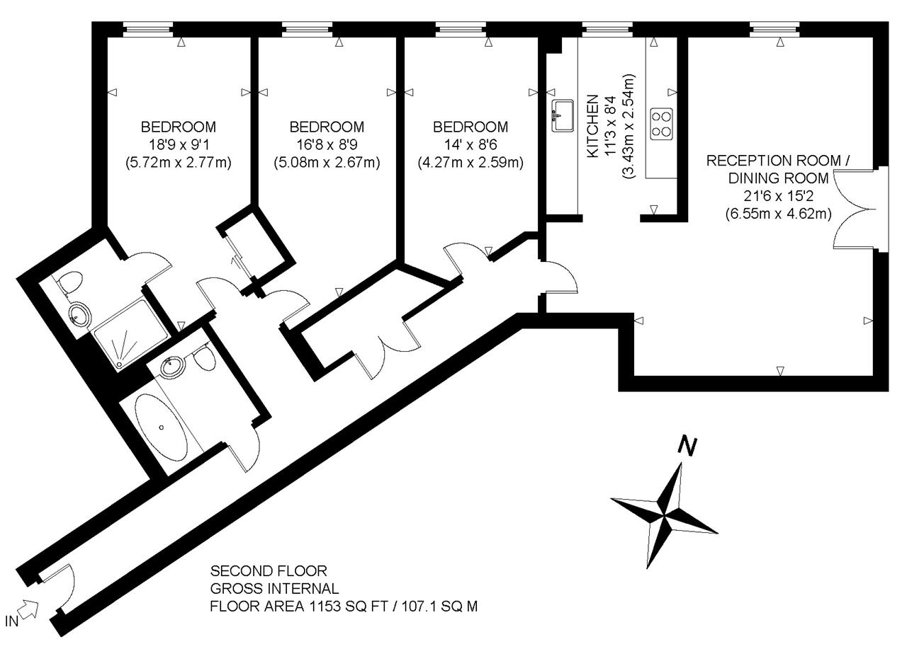 Old Watling Street, Canterbury CT1, 3 bedroom flat for