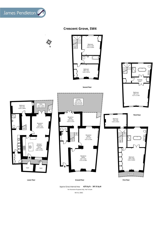 Crescent Grove, Clapham, London SW4, 6 bedroom terraced