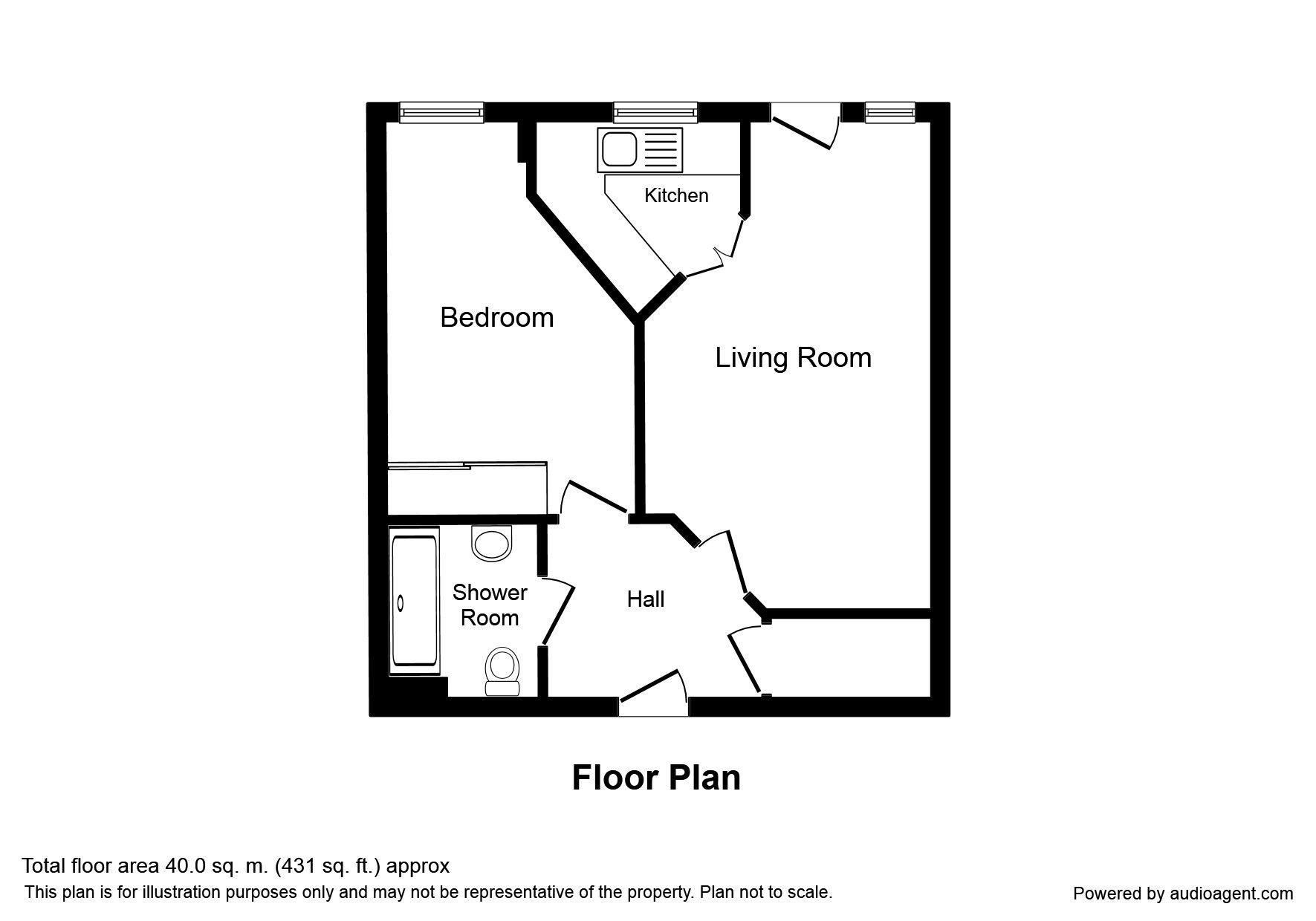 Ashill Road, Rednal, Birmingham B45, 1 bedroom flat for