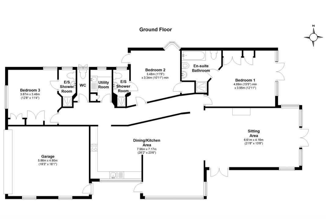 Ballard Estate, Swanage BH19, 3 bedroom detached bungalow