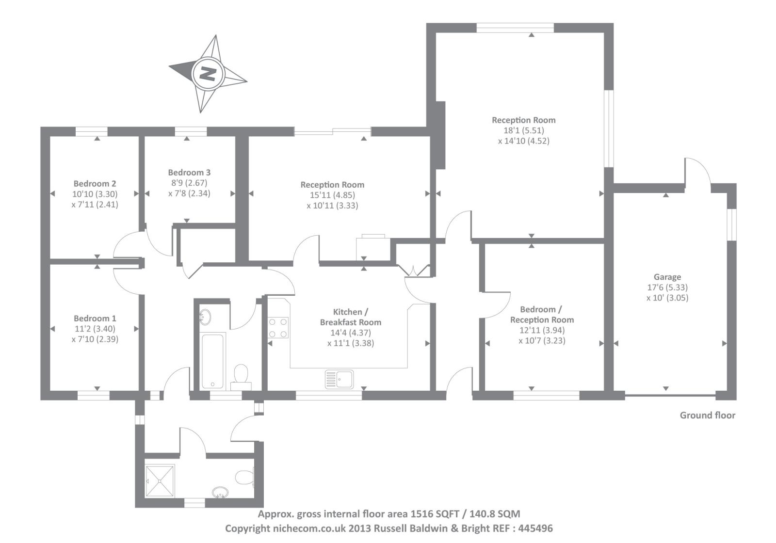 Elizabeth Road, Kington HR5, 3 bedroom bungalow for sale
