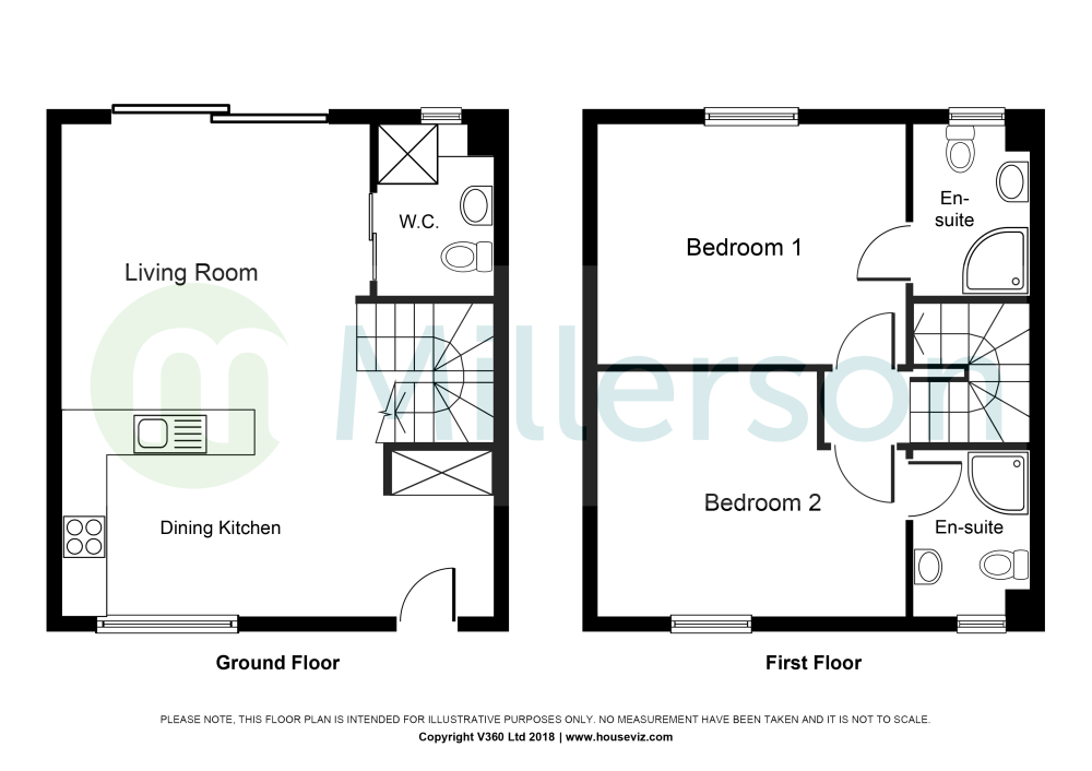 medium resolution of passage hill mylor falmouth tr11 2 bedroom terraced house for note this diagram is not to scale intended for illustrative purposes