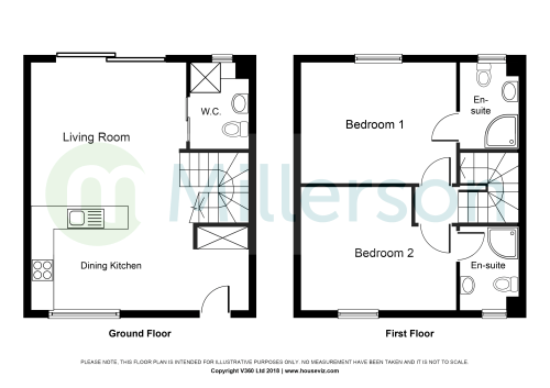small resolution of passage hill mylor falmouth tr11 2 bedroom terraced house for note this diagram is not to scale intended for illustrative purposes
