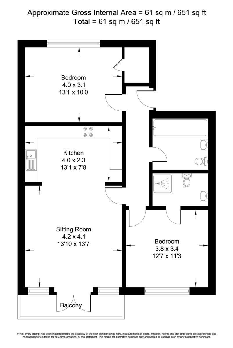 William Morris Close, Cowley, Oxford OX4, 2 bedroom flat