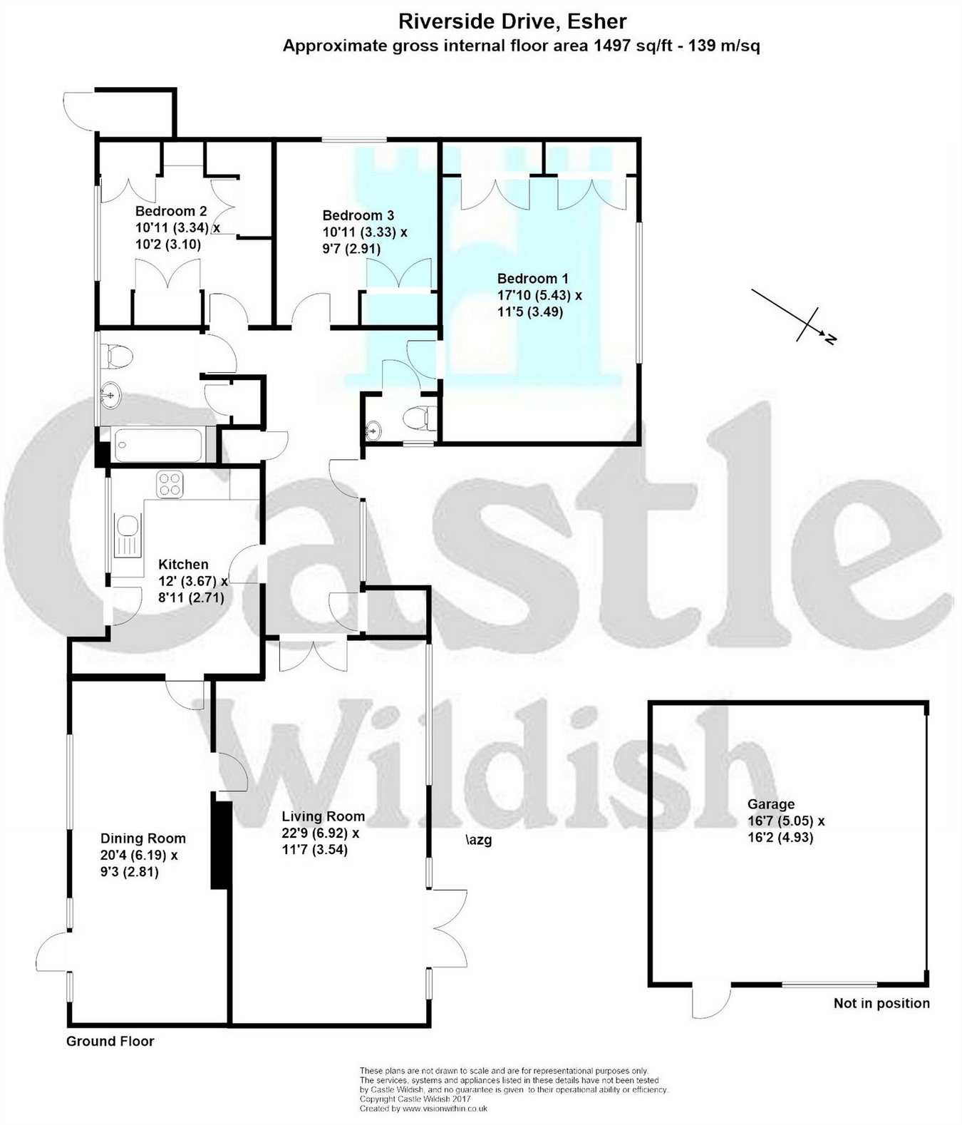 Riverside Drive, Esher, Surrey KT10, 3 bedroom detached