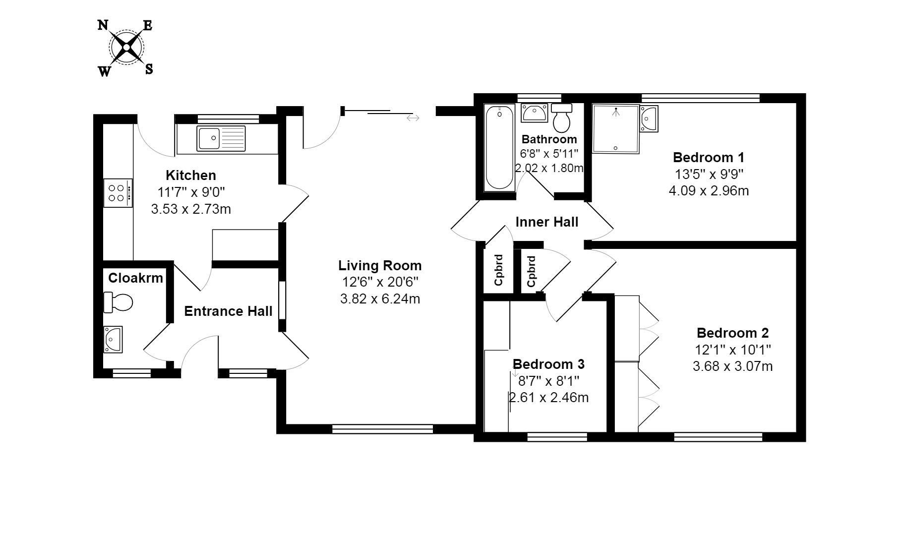 Portland Court, Lyme Regis DT7, 3 bedroom bungalow for