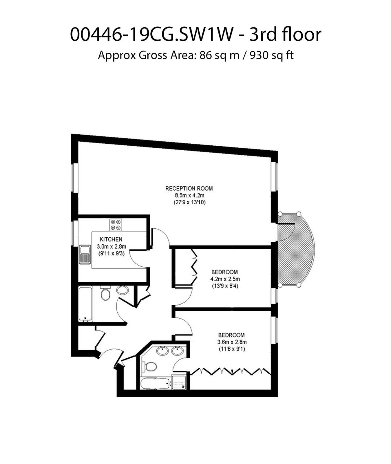 Chelsea Gate Apartments, 93 Ebury Bridge Road, London SW1W