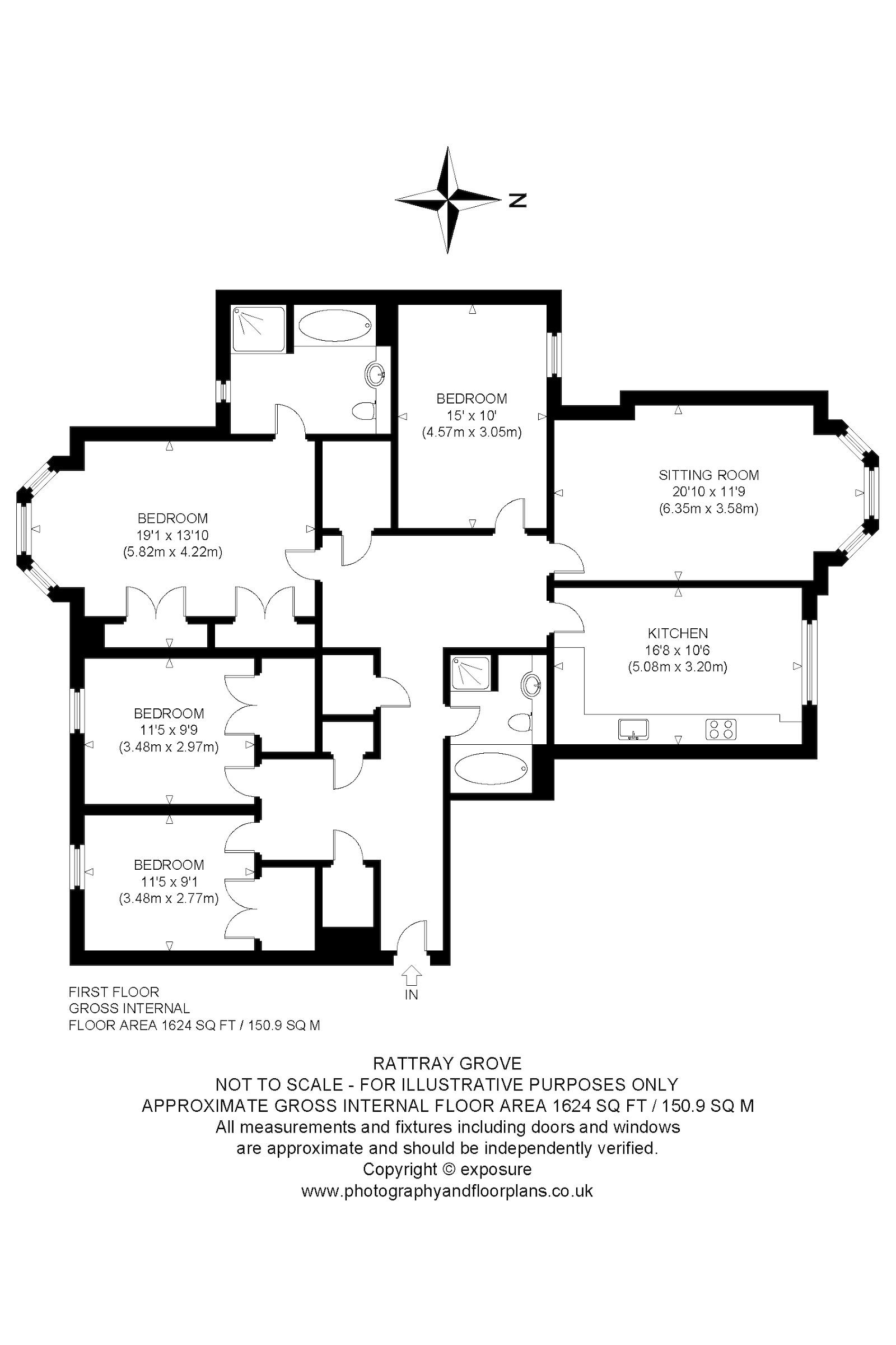 Rattray Grove, Edinburgh EH10, 4 bedroom flat for sale