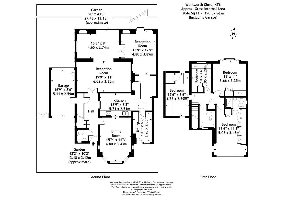 Wentworth Close, Long Ditton, Surbiton KT6, 4 bedroom