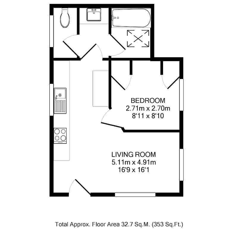 Carew Road, Wallington SM6, 1 bedroom bungalow for sale