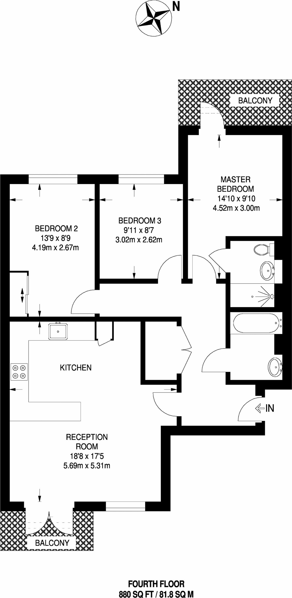 Voysey Square, London E3, 3 bedroom flat for sale