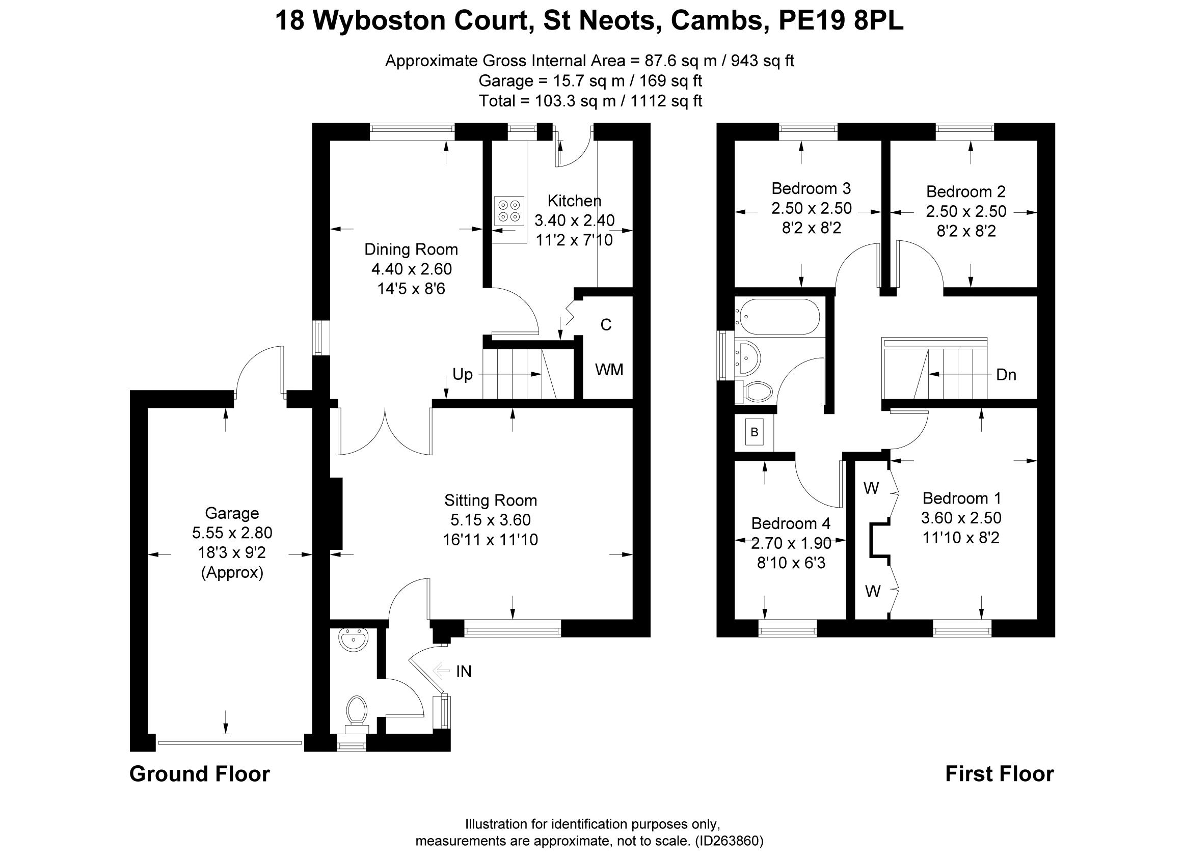 Wyboston Court, Eaton Socon, St. Neots PE19, 4 bedroom