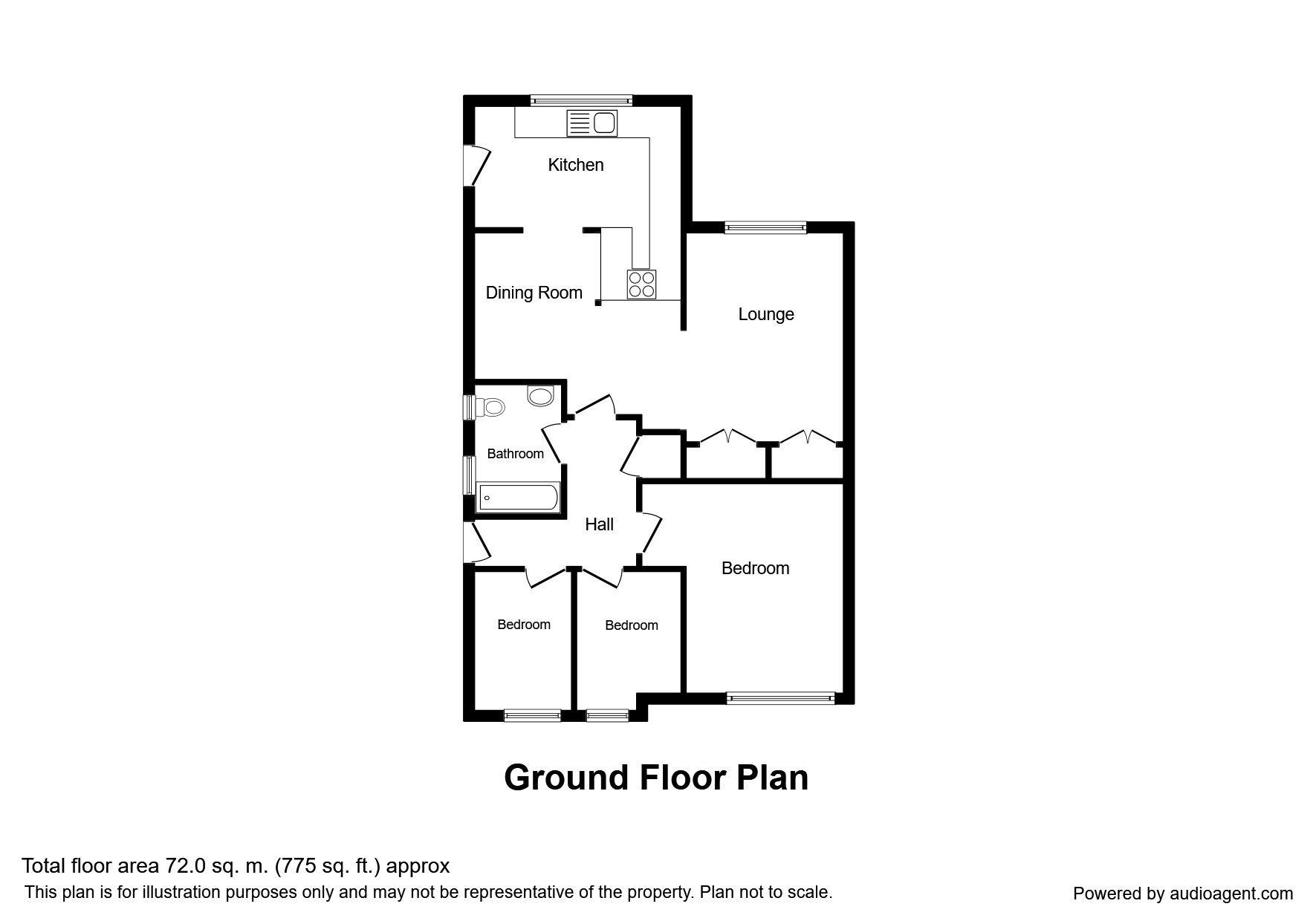 Mellor Close, Burnley BB11, 3 bedroom bungalow for sale