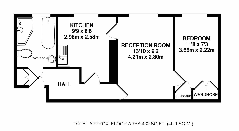 Battersea Park Road, London SW11, 1 bedroom flat for sale