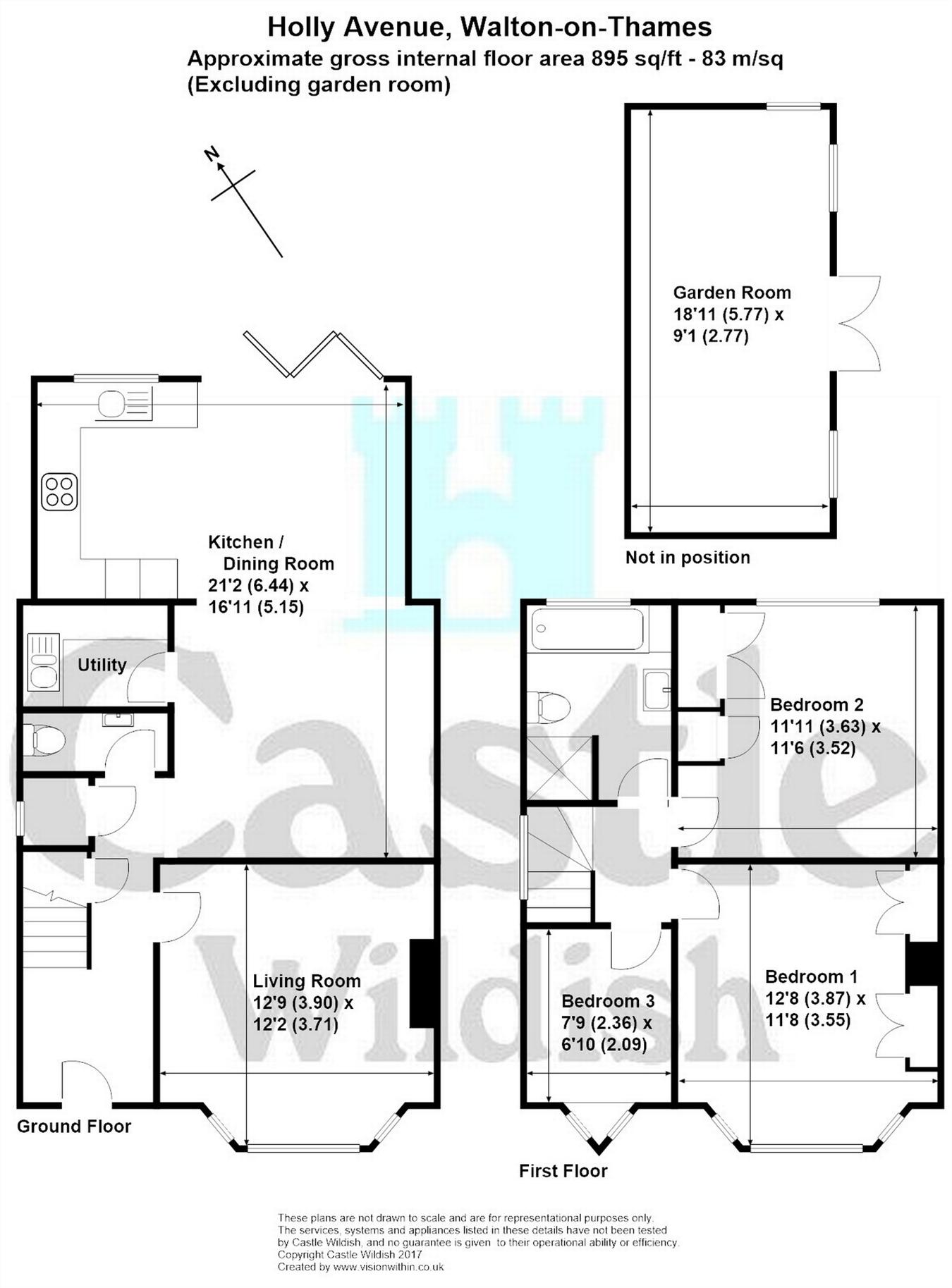 Holly Avenue, Walton-On-Thames, Surrey KT12, 3 bedroom