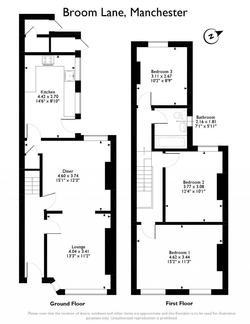 Broom Lane, Manchester, Greater Manchester M19, 3 bedroom