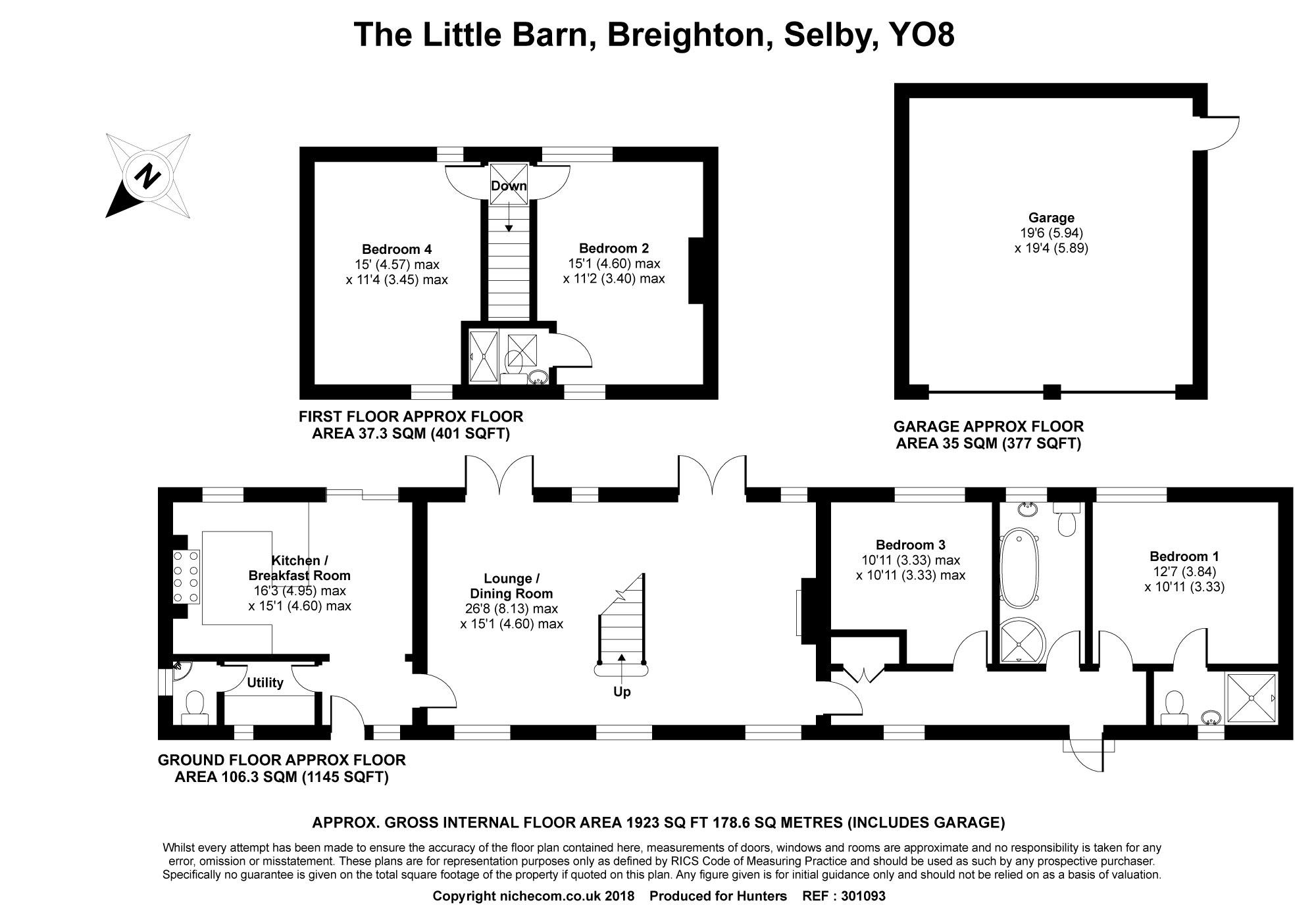 The Little Barn Breighton Selby Yo8 4 Bedroom Detached