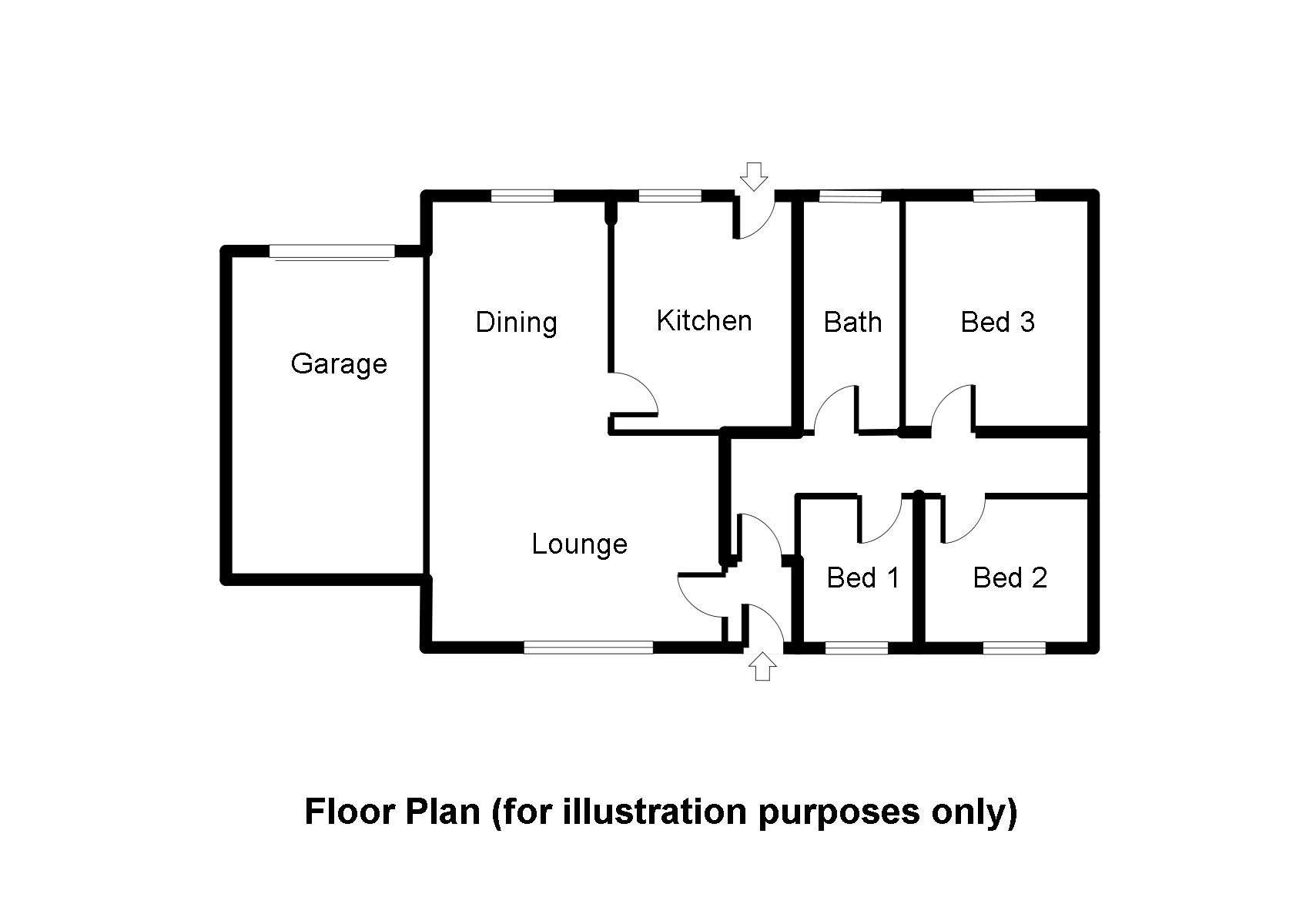 Kildale, Hightae DG11, 3 bedroom detached bungalow for