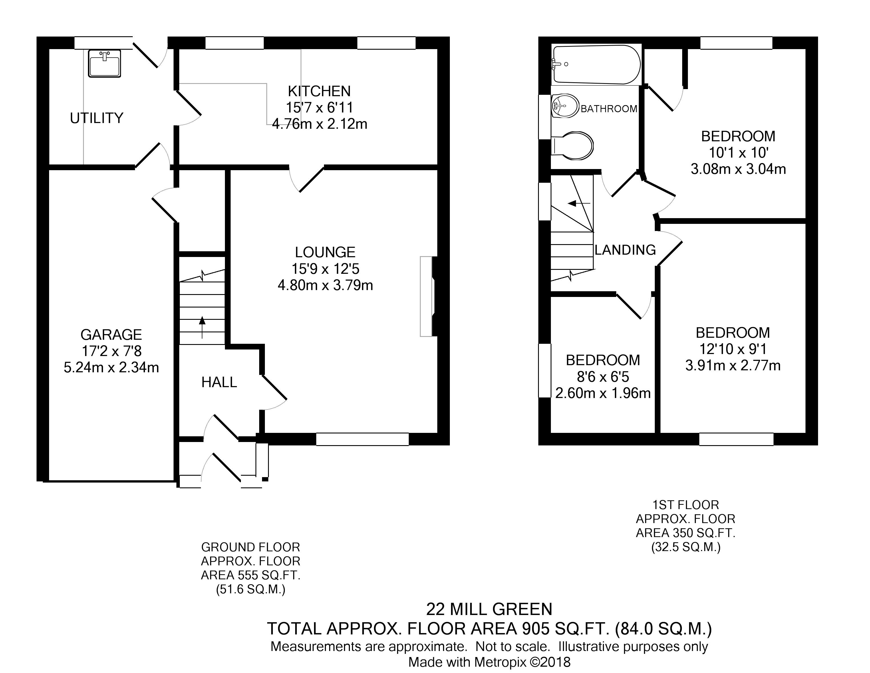3 Bed Semi Detached House For Sale In Mill Green