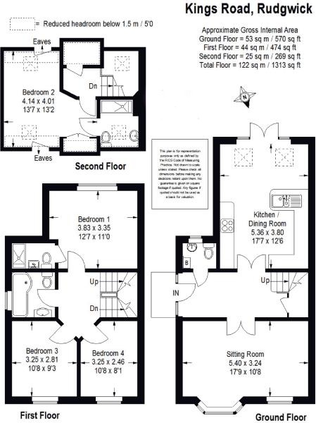 Kings Road, Rudgwick, Horsham RH12, 4 bedroom semi