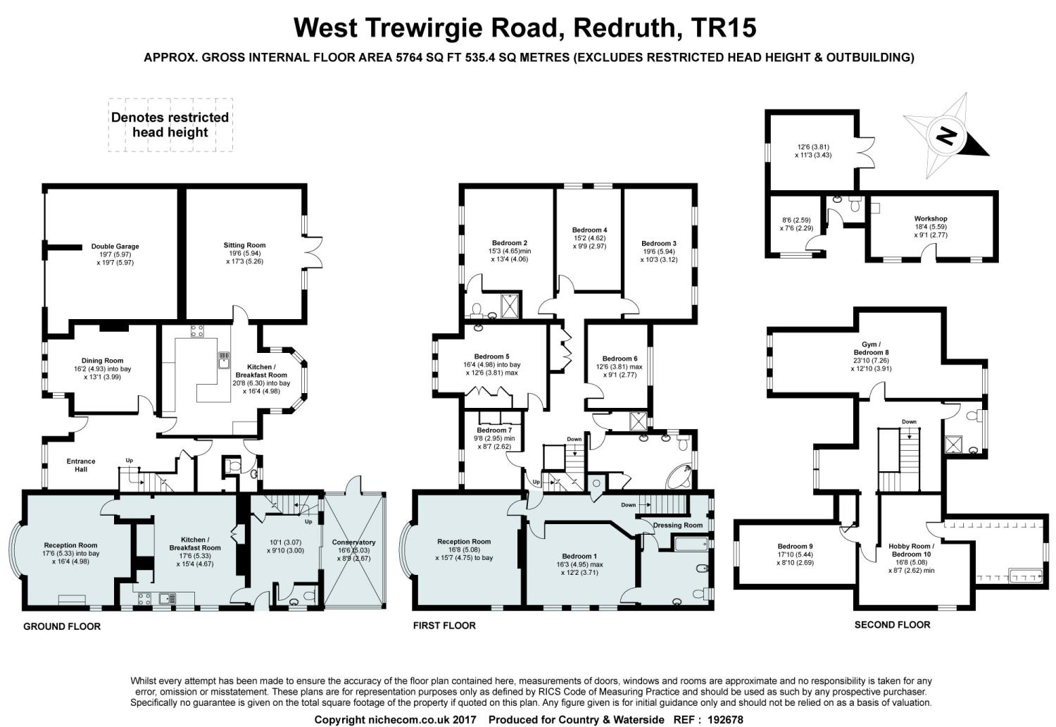 Redruth Cornwall Tr15 10 Bedroom Detached House For Sale