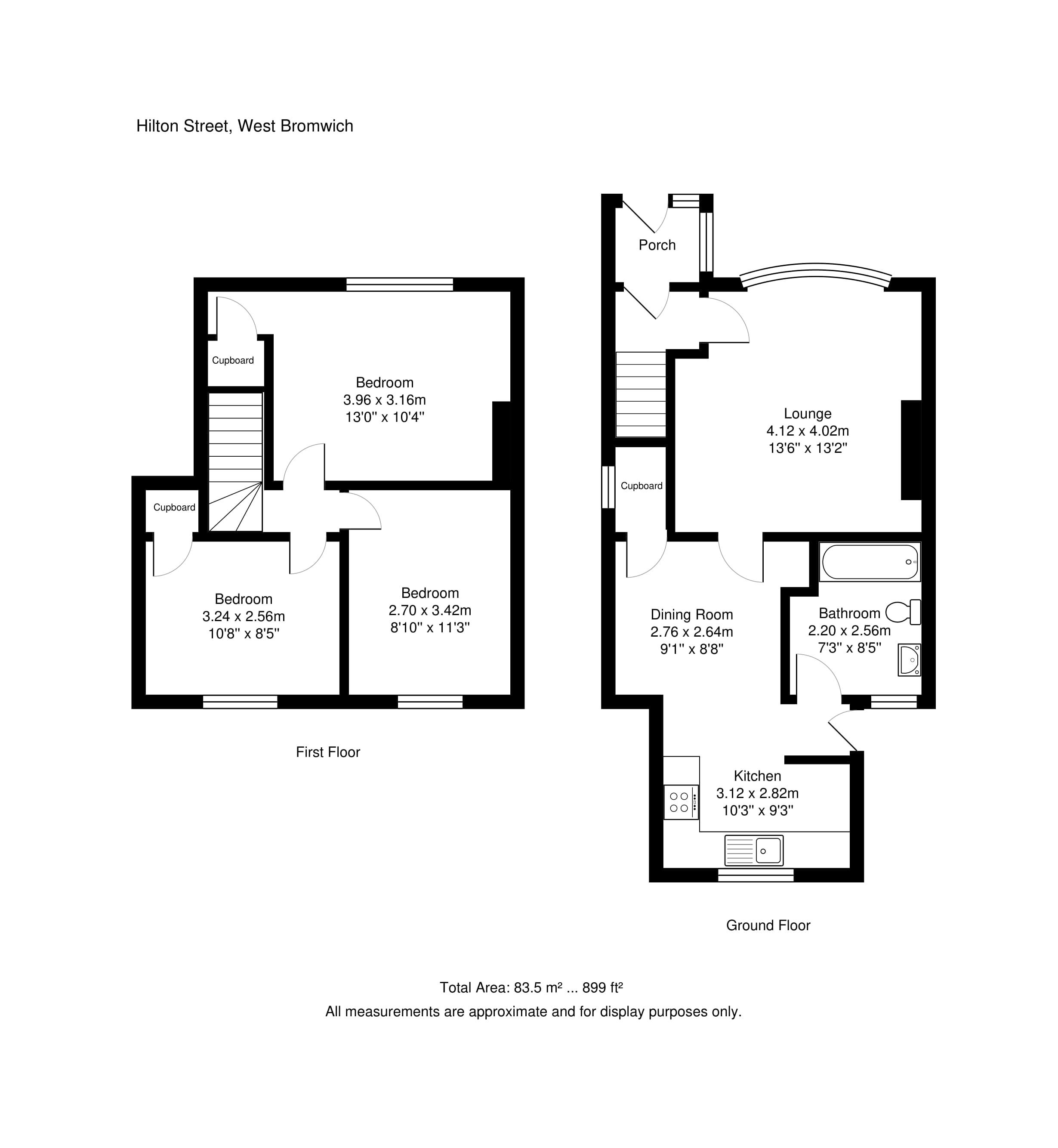 3 Bed Terraced House For Sale In Hilton Street West
