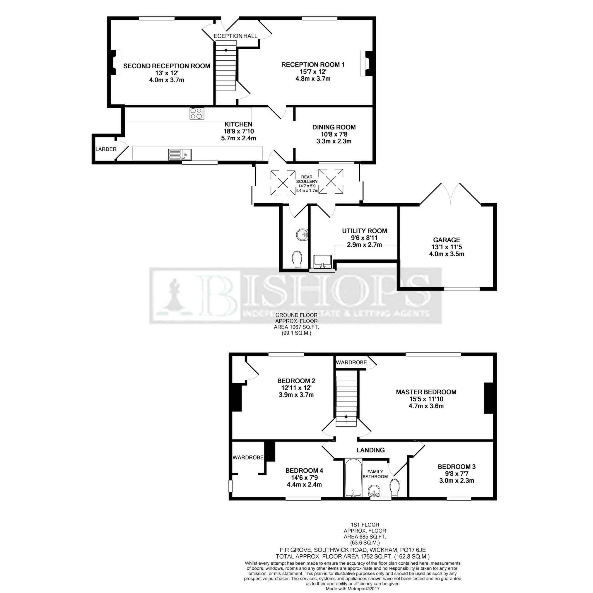 Southwick Road Wickham Po17 4 Bedroom Detached House For